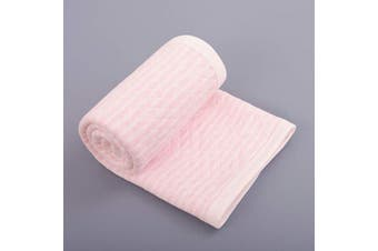 (80cm  x 100cm , Pink Wave) - NTBAY Lightweight Soft Jersey Cotton Toddler Blanket, Breathable and Warm for Boys and Girls Baby Blanket, 80cm x 100cm , Pink