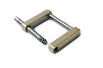 (1.9cm , Brushed Brass) - Bobeey 4pcs Rectangular Buckles For purses making,SCREW Rings Buckles Strap Connector Purse Hardware Bag Loop BBC7 (1.9cm , Brussed Brass)