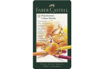(Tin Of 12) - Faber Castell F110012 Polychromos Colour Pencils Tin Of 12