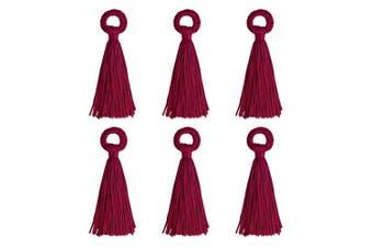 (10cm, Dark Red) - Wholesale 12PCS Large Silk Tassel Handmade Soft Dark Red DIY Tassels Bulk for Craft and Jewellery Making