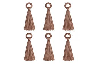 (10cm, Brown) - Wholesale 12PCS Large Brown Tassel Handmade Soft Silk DIY Tassels Bulk for Craft and Jewellery Making