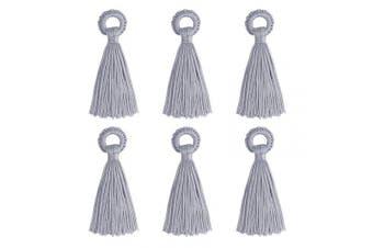 (10cm, Light Grey) - Wholesale 12PCS Large Silk Tassel Handmade Soft Light Grey DIY Tassels Bulk for Craft and Jewellery Making