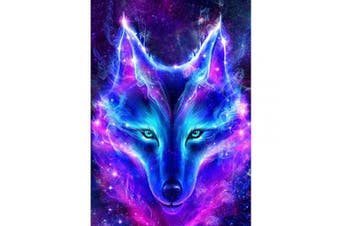 DIY 5D Diamond Painting by Number Kits, Full Drill Crystal Wolf Animal Embroidery Painting Wall Sticker for Wall Decor 30cm x 40cm