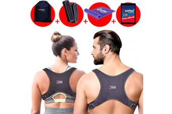 2019 Back Straightener Posture Corrector for Women and Men - Shoulder Brace Back Posture Corrector for Men - Upper Back Support and Neck Pain Relief - Under Clothes Back Brace for Neck & Shoulder
