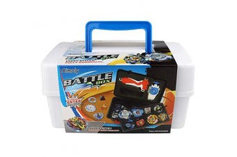 (White) - Aimoly Battle Tops Case, Storage Carrying Box Storage Box for Battling Spinner Game (White)