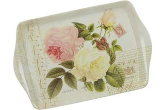 "Creative Tops 'Rose Garden' Melamine Scatter Tray with Decorative Print, 21 x 14 cm (8.25"" x 5.5"") - Multi-Colour"