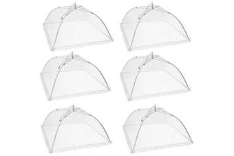 Pop-Up Mesh Food Covers Tent Umbrella,(6 Park) Large and Tall 43cm x 43cm , for Outdoors, Screen Tents, Parties Picnics, BBQs, Reusable and Collapsible