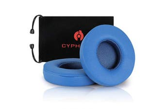 (Blue) - Beats Solo 2 & 3 Earpad Replacement,Cypher.V Ear Cushion Pads Compatible with Solo 2.0/3.0 Wireless On Ear Headphones by Dr. DRE 1 Pair- (Blue)