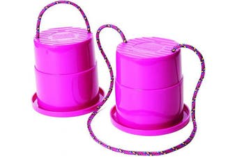 (Raspberry) - Just Jump It Set of 2 EZ Steppers Agility Toy - Can Stepper Toys