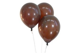 (100 ct, Decorator Brown) - Creative Balloons 30cm Latex Balloons - Pack of 100 Pieces - Decorator Brown