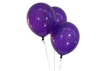 (100 ct, Decorator Deep Purple) - Creative Balloons 30cm Latex Balloons - Pack of 100 Pieces - Decorator Deep Purple