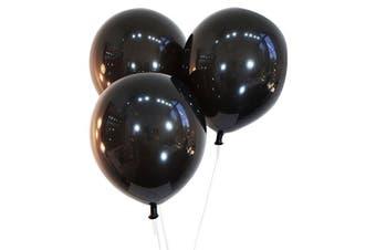 (100 ct, Decorator Midnight Black) - Creative Balloons 30cm Latex Balloons - Pack of 100 Pieces - Decorator Midnight Black