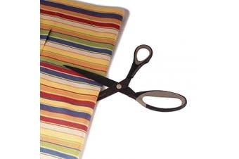 (1 Set, Black W/ Dark Gray Inlays) - BambooMN Titanium Softgrip Scissors Set Sewing, Arts, Crafts, Office - 1 Set of 3 - Black w/Dark Grey Inlays