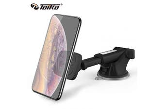 (TK-DW2 Dashboard Mount-Black) - Car Mount for Cell Phone, Toiko Magnetic Phone Holder for Car Magnetic Dashboard Smartphone Car Mount, Phone Holder Compatible with All Smartphones