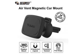 (Air-vent Mount-Black) - Car Mount for Cell Phone, Toiko Magnetic Phone Holder for Car Magnetic Air-Vent Mount Smartphone Car Mount, Phone Holder Compatible with All Smartphones