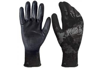 Gorilla Grip Work Gloves with Grip, Veil Tac Black, All Purpose Gloves for Fishing, Outdoor Work, and Automotive Work