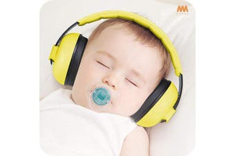 (Yellow) - Baby Ear Protection Noise Cancelling Headphones for Babies and Toddlers - Mumba Baby Earmuffs - Ages 3-24+ Months - for Sleeping, Studying, Aeroplane, Concerts, Movie, Theatre, Fireworks