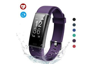 (Purple) - Lintelek Fitness Tracker, Fitness Tracker Smart Watch Pedometer, Activity Tracker with Heart Rate Monitor, 14 Sports Modes, Step Counter for Kids, Men and Women