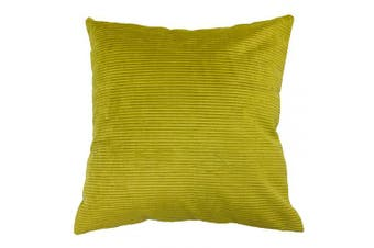 "(Bamboo Yellow, Cushion Cover) - Riva Paoletti Munich Cushion Cover Corduroy-Soft Ribbed Effect-87 13% Polyamide-Dry Clean only-45 x 45cm inches, Polyester, Bamboo Yellow, 45cm x 45cm (18"" x 18"")"