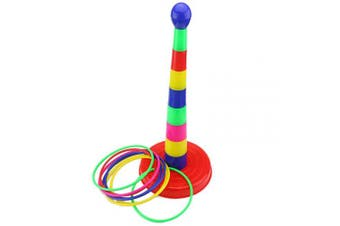 Ogrmar 46cm Colourful Plastic Sport Ring Toss Game Set for Kids
