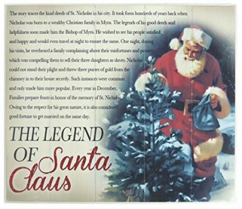 Darice Christmas Decor MDF the Legend of Santa Claus Wall Decor Christmas wall decor. The legend of Santa Clause. Makes a great gift! Darice Christmas Decor MDF the Legend of Santa Claus Wall Decor