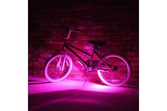 (Pink) - Bike Brightz LED Bicycle Safety Light Lightweight Fashion Accessory