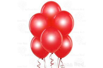 (30cm  Pack of 100, Metallic Red) - Metallic Red 30cm Pearlescent Thickened Latex Balloons, Pack of 100, Pearlized Premium Helium Quality for Wedding Bridal Baby Shower Birthday Party Decorations Supplies Ballon Baloon Thinken