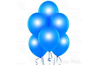 (30cm  Pack of 144, Metallic Blue) - Metallic Blue 30cm Pearlescent Thickened Latex Balloons, Pack of 144, Pearlized Premium Helium Quality for Wedding Bridal Baby Shower Birthday Party Decorations Supplies Ballon Baloon Thinken