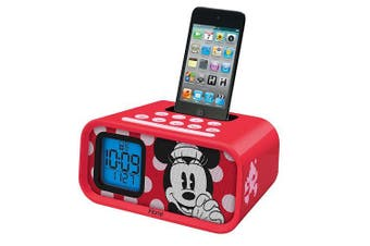 (Minnie Mouse) - Minnie Mouse Dual Alarm Clock and 30-Pin iPod Speaker Dock, DM-H22