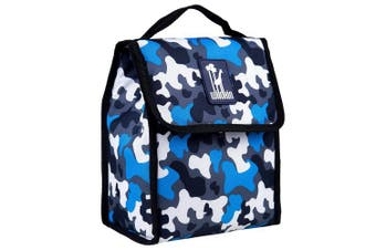 (Blue Camo) - Lunch Bag, Wildkin Lunch Bag, Insulated, Moisture Resistant, Easy to Clean and Folds Flat Making Storage That Much Easier, Ages 3+, Perfect for Kids or On-The-Go Parents – Blue Camo