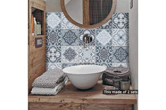 (Ts058, 20x20cm) - alwayspon Floor Wall Tile Transfers Sticker for Home Decor, Peel & stick self-adhesive splashback, Tile Decals for Living Room Kitchen Bathroom Decor, 10 Pieces