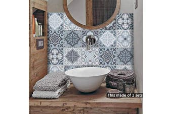 (Ts058, 15x15cm) - alwayspon Floor Wall Tile Transfers Sticker for Home Decor, Peel & stick self-adhesive splashback, Tile Decals for Living Room Kitchen Bathroom Decor, 10 Pieces