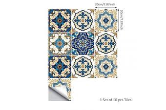 (Moroccan, 20x20cm) - alwayspon Floor Wall Tile Sticker for Home Decor, Peel & stick self-adhesive splashback, Tile Decals for Living Room Kitchen Bathroom Decor, 10 Pieces