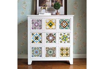 (Porto, 15x15cm) - alwayspon Floor Wall Tile Sticker for Home Decor, Peel & stick self-adhesive splashback, Tile Decals for Living Room Kitchen Bathroom Decor, 10 Pieces