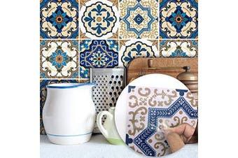 (Moroccan, 15x15cm) - alwayspon Floor Wall Tile Sticker for Home Decor, Peel & stick self-adhesive splashback, Tile Decals for Living Room Kitchen Bathroom Decor, 10 Pieces