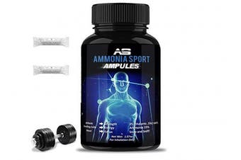 AmmoniaSport Athletic Smelling Salts - Ampules (25) - Ammonia Inhalant - Smelling Salt - Ammonia Inhalants- Energy Supplement - Focus Enhancer - Increase Strength - Pre Workout - Intra Workout