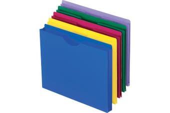 (lettersize-10perpack) - Pendaflex Translucent Poly File Jackets, Letter Size, Assorted Colours, 10 per Pack (50990)