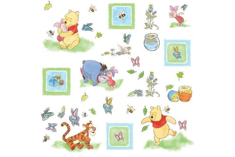 (Multi) - Roommates Winnie the Pooh Toddler Peel & Stick Wall Decals