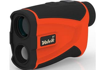 (Black/Orange) - Volvik V1 Pro Golf Range Finder - 1300 Yard Range With Vibrating Pin Lock & Slope Compensation Technology