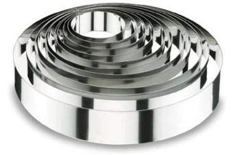 (18 x 4 cm) - Lacor-68418-ROUND CAKE RING 18x4 CM.- STNLS