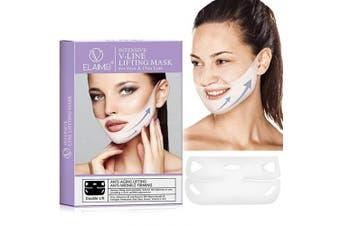 DAGEDA V Line Face Mask Neck Lift Mask Chin Up Patch, Double Chin Reducer, V-Line Face Lifting, Tightening Firming Moisturising Mask, V Shape Chin Slimming Mask(4Pcs)