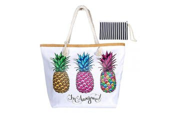 (Style 4) - Summer Oversized Waterproof Beach BagXXL,WolinTek Women Extra Large Holiday Beach Tote Bag Travel Shoulder Tote Bag Shopping Bag Oversized Carry Tote Bag with Zipper Closure