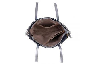 (Khaki) - Designer Womens Handbags Faux Leather Tote Ladies Shopping Bag