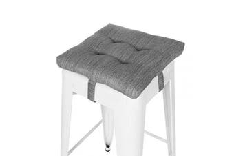 "(12"" (30CM), Gray) - baibu Super Soft Bar Stool Square Seat Cushion with Ties (12'' (30CM))"