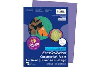 (Violet) - SunWorks Construction Paper, Violet, 23cm x 30cm , 50 Sheets
