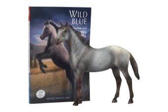 (Wild Blue) - Breyer Horse Figurine and Book Set, Wild Blue
