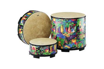 "(Gathering Drum (16"")) - Remo KIDS PERCUSSION, Gathering Drum, 16 Diameter, 8 Height, Rain Forest Fabric"