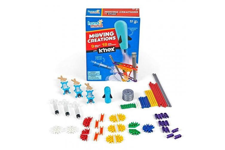 hand2mind Moving Creations with K'nex, STEM Science Book & Building Kit, Learn About Engineering, STEM.org Authenticated, Ages 8+