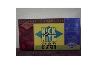 Nick at Nite Classic TV Trivia Game, issued by Cardinal, copyright 1996