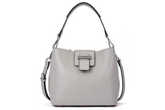 (Grey, small) - BOSTANTEN Women Leather Cross-Body Bag Lightweight Shoulder Handbag Designer Top-Handle Purses Grey
